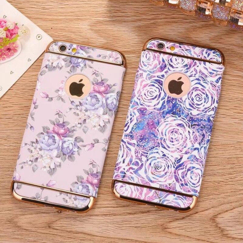 För iphone 7 fodral mode lysande blommig blomma 360 full skydd - Reservdelar och tillbehör för mobiltelefoner - Foto 5