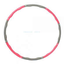 Ship From US Removable Fitness HULA Hoop Plastic Abdominal Health Foam Massage Hula Hoop Weighted Exercise Diet 24000580