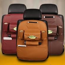 2018 Новый багажник автомобиля, сумка для хранения кожа висит сумка автомобилей спинки Организатор сиденья Многофункциональный Авто Коробка для хранения 5 цветов