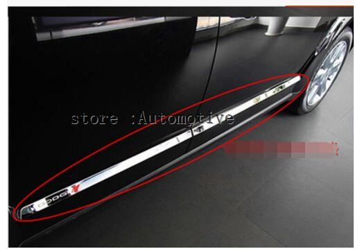 Stainless Steel Side Door Body Molding Cover Trim For Dodge Journey Jcuv 2010 2014