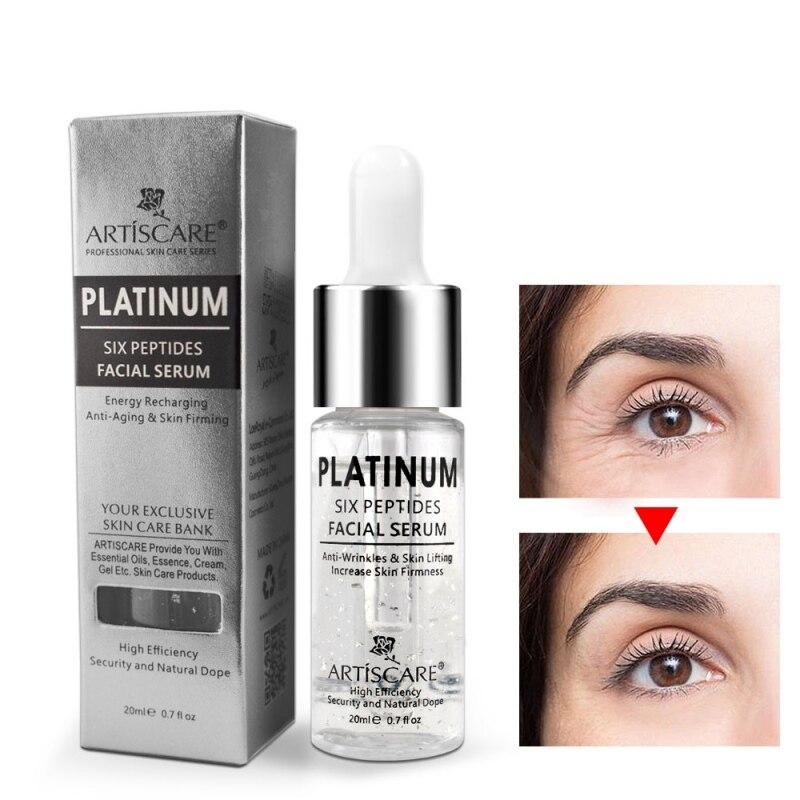 Platinum Six Peptides Serum Hyaluronic Acid Anti-Wrinkle 24K Gold Anti Aging And Whitening  20ml