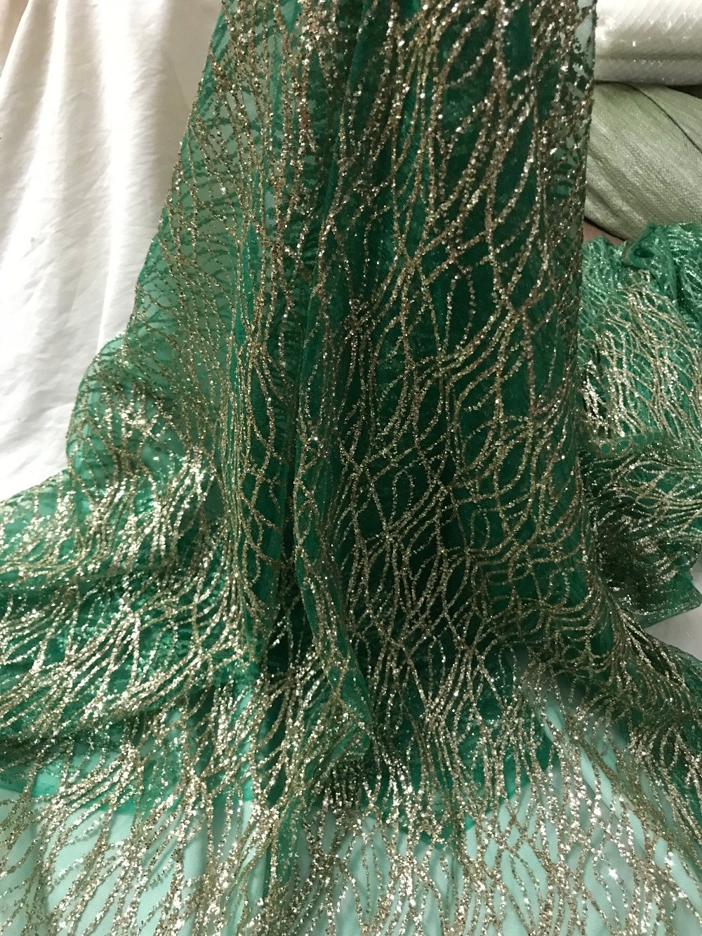 latest nigerian laces with glitter Free shipping african cord lace african french lace fabric sat 51531
