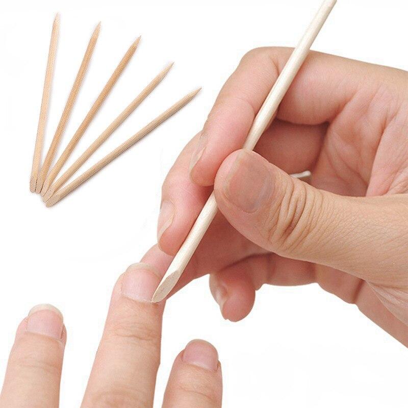 11,5 см маникюрный дизайн ногтей Красота Оранжевый Дерево палочка для ногтей кутикулы толкатель для снятия лака для ногтей 2000 шт