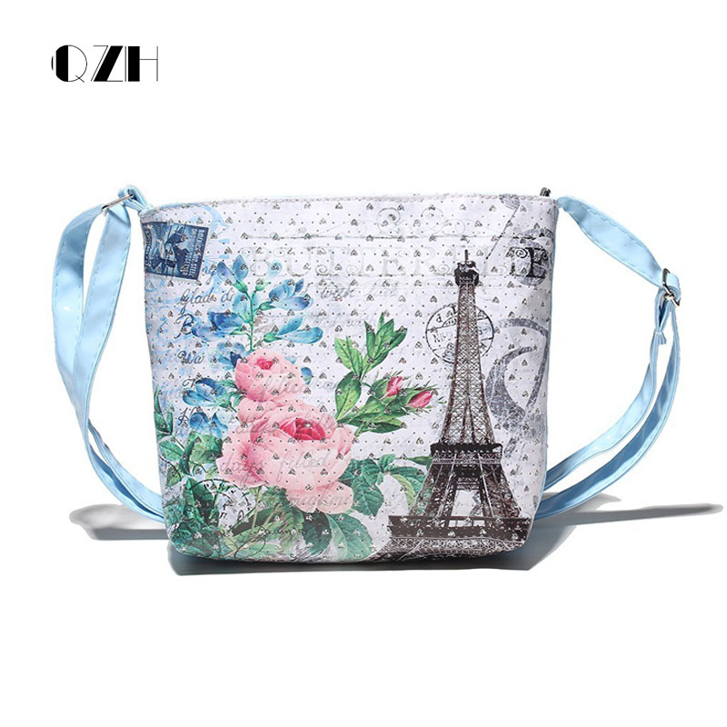 QZH Baby Girl Messenger Bags Mini PU Leather Printing Satchel Shoulder Bags Small Handbag Crossbody Bag For Kindergarten Girls velour beauty women design handbag chain shoulder bag mini small velvet crossbody satchel female messenger bags gift for girls