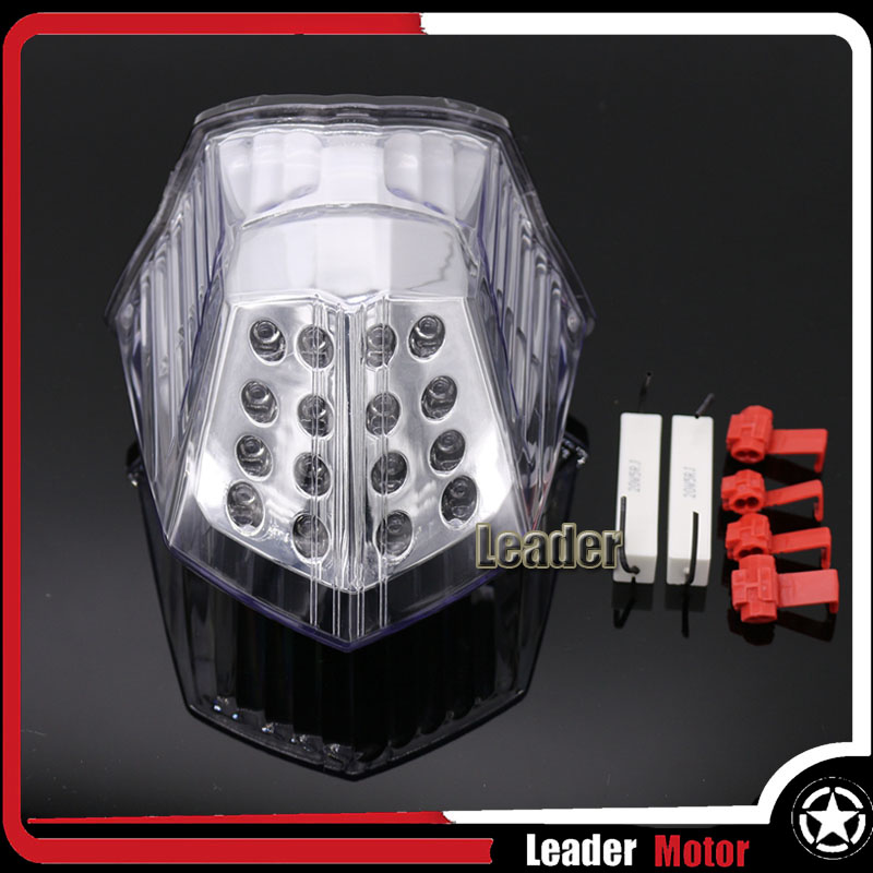 ФОТО For YAMAHA XJ6 2009-2014 FZ6R FZ-6R 2009-2014 DIVERSION 600 2009-2014 Motorcycle Accessories LED Tail Light Smoke