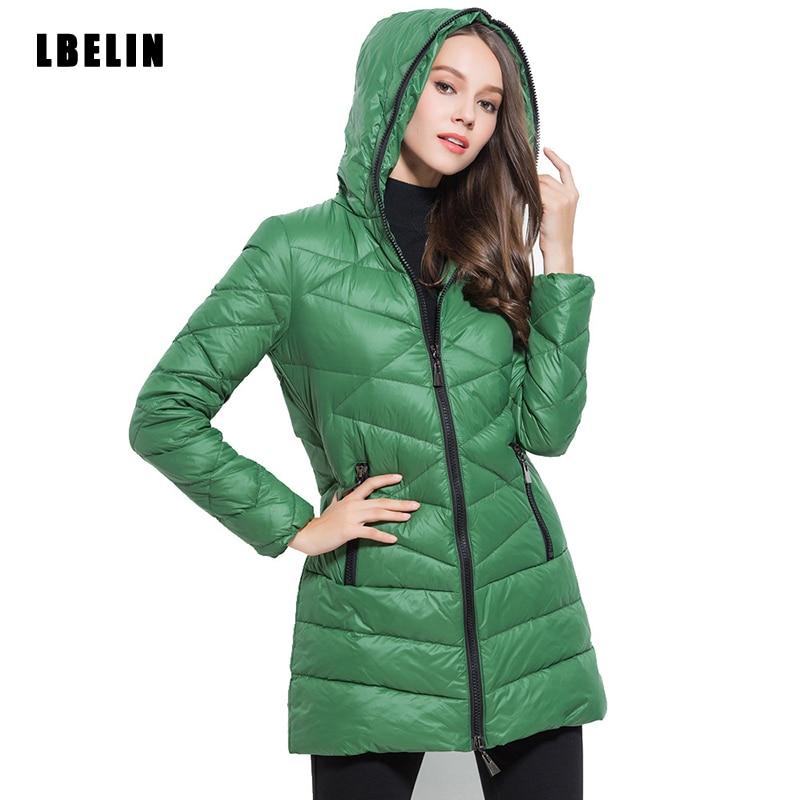 2016 Yeni Yeşil için Aşağı Parkas Kadınlar Kış Parka Kadınlar ceketler Uzun Kapşonlu Coat Kış Ceket Palto Artı Boyutu Ördek aşağı