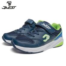 QWEST/брендовые кожаные стельки; дышащие детские спортивные ботинки с застежкой-липучкой; Размеры 30-36; детские кроссовки для мальчиков; 91K-GL-1298