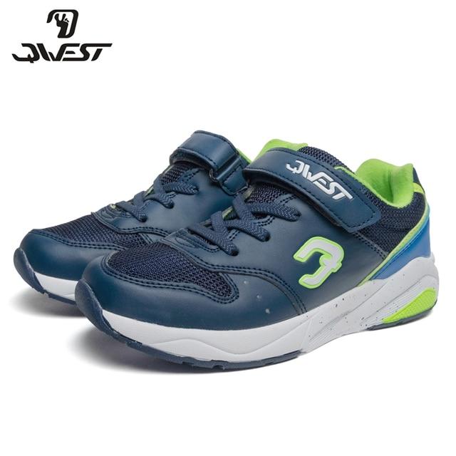 Кроссовки Qwest для мальчиков 91K-GL-1298, вид застежки – липучка, дышащий материал, кожаная стелька, для спорта и отдыха, размер 30-36. Модная стильная модель.