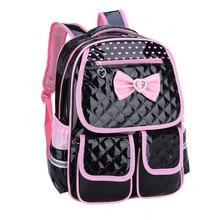 Neue Mode Kinder Schultaschen für Mädchen Rucksack Weiblichen Kinder Tasche Kind PU Rucksäcke für Teenager Mädchen Bogen Anzug