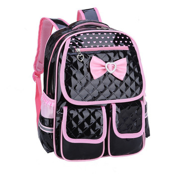 New Fashion Children School Bags for Girls Backpack Female Kids Bag Child PU Backpacks for Teenage Girls Bow Suit new children school bags for girls boys backpack kids book bag child printing backpacks set for teenage girls schoolbag suit