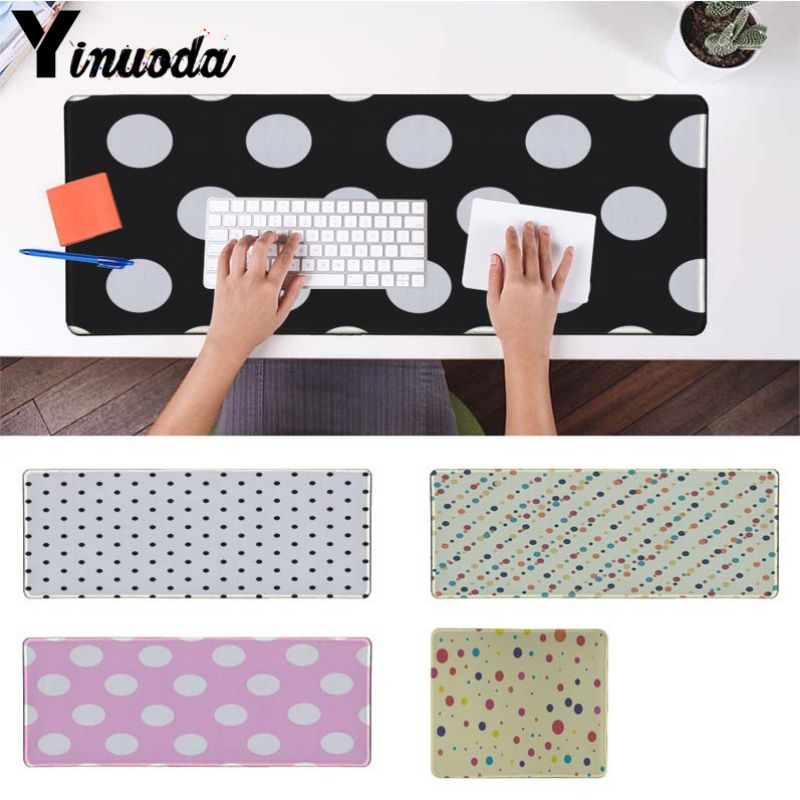Yinuoda Computer Keyboard Matcute colorful dots High Speed New Mousepad Size for 18x22cm 20x25cm 25x29cm 30x90cm 40x90cm