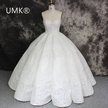 2017 Luxury Ball Gown Lace Wedding Dress Sexy Off the Shoulder Vestido De Noiva High Quality shop online china Wedding Gowns(China)