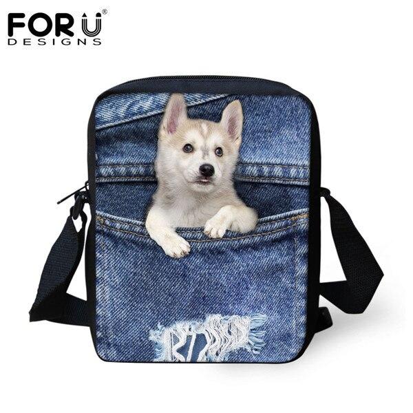 FORUDESIGNS/женская маленькая сумка через плечо с объемным рисунком собаки чихуахуа, модные женские сумки-мессенджеры, сумки через плечо - Цвет: CC1767E