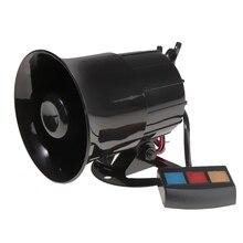 30W 12V Car Alarm Loud Speaker Siren Horn Emergency Microphone 3 Sound 110dB 1 x hand crank operated emergency alarm siren sound rating 110db abs