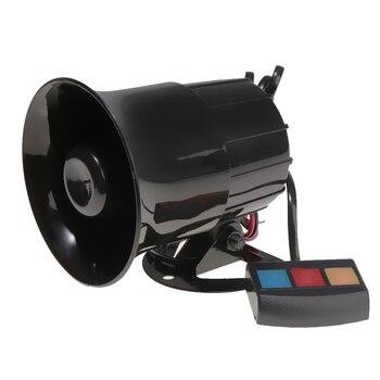 30W 12V Car Alarm Loud Speaker Siren Horn Emergency Microphone 3 Sound 110dB dc 12v 200w 8 sound car truck loud speaker police fire horn pa siren horn system kit car alarm