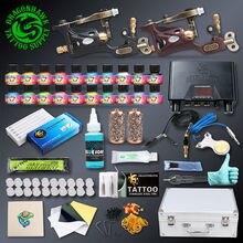 Professional Tattoo kit 2 pcs Rotary Tattoo Machines 20 Immortal Inks Tattoo Power Supply Tattoo Accessories