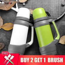 KEELORN water bottle 1000ML 1200ML Outdoor thermostat household stainless steel hot water bottle car travel warm kettle stainless steel water kettle 1200ml
