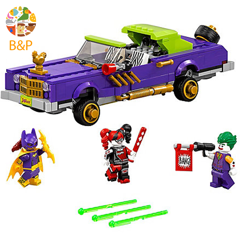 lepin Legoing 70906 433pcs Super Heroes series The Joker Notorious Lowrider Model Building Blocks Toys For Children 07046 Gift single sale super heroes transparent predator the movie series one eyed alien building blocks for children gift toys kf812