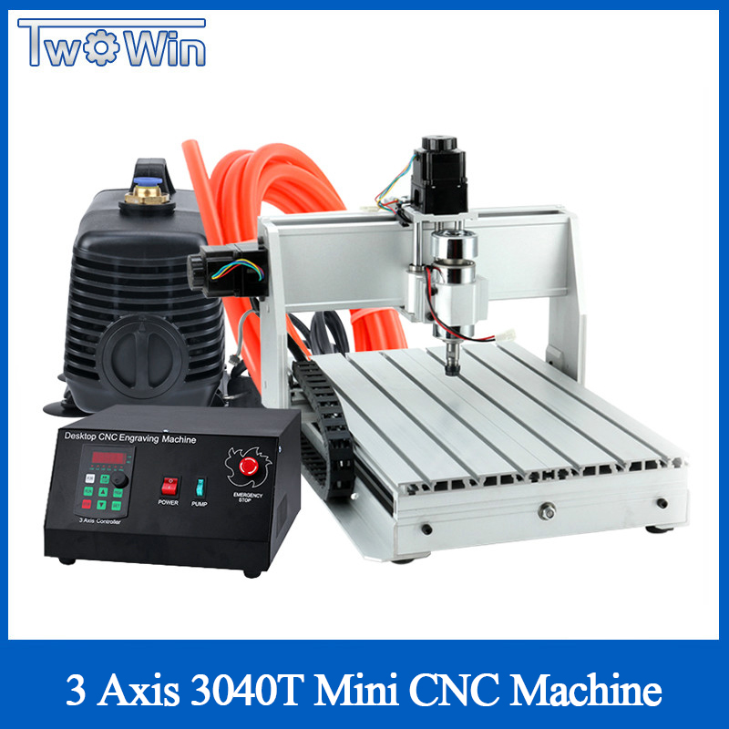 300W 3040T Mini CNC Machine 3 Axis Pcb Milling Machine Wood Router Cnc Router With MACH3 Control Working Area 390 X 280 X 55mm