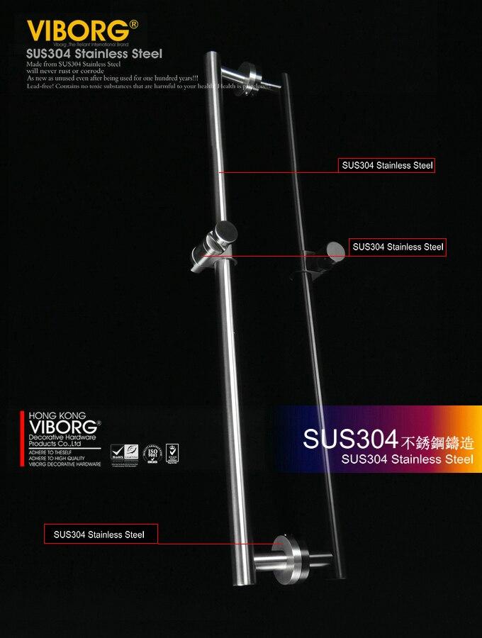 Выборг Делюкс SUS304 Нержавеющаясталь ручной душ Железнодорожный Презентация бар, матовый, ks-s503