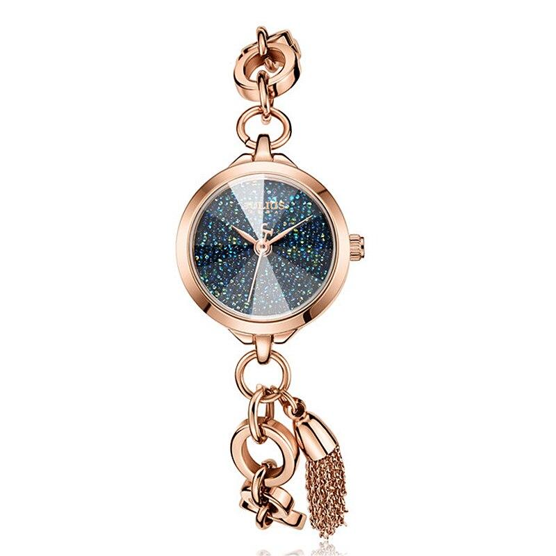 Small Julius Lady Women's Watch Japan Quartz Fashion Hours Tassel Clock Chain Bracelet Top Girl's Valentine Birthday Gift Box цена и фото