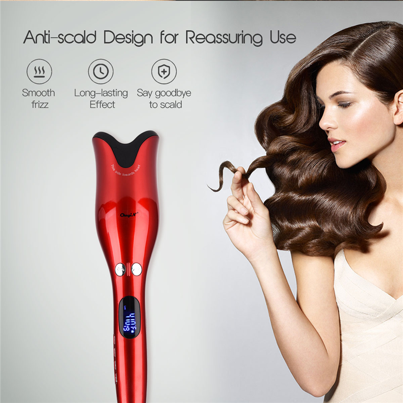 Automatic Hair Curling Iron Ceramic Infrared Ray Heating Hair Curler Smart Wet Dry Hair Spiral Styling