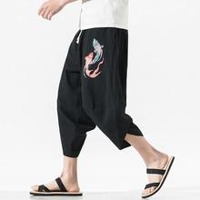 Мужские мешковатые штаны в стиле хип-хоп, штаны-шаровары с принтом, штаны с эластичной резинкой на талии, Свободные Длинные повседневные брюки