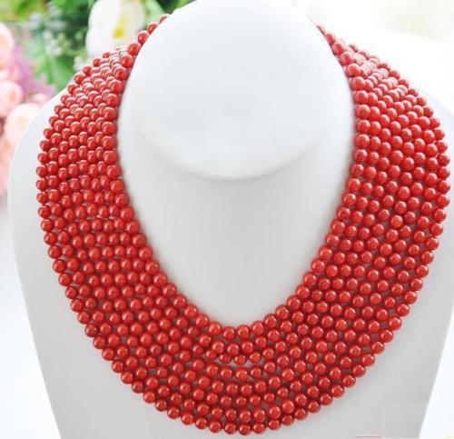 100 INCH AAA REAL SOUTH SEA GENUINE RED CORAL NECKLACE 14K GOLD CLASP100 INCH AAA REAL SOUTH SEA GENUINE RED CORAL NECKLACE 14K GOLD CLASP
