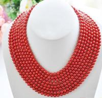 100 INCH AAA REAL SOUTH SEA GENUINE RED CORAL NECKLACE 14K GOLD CLASP