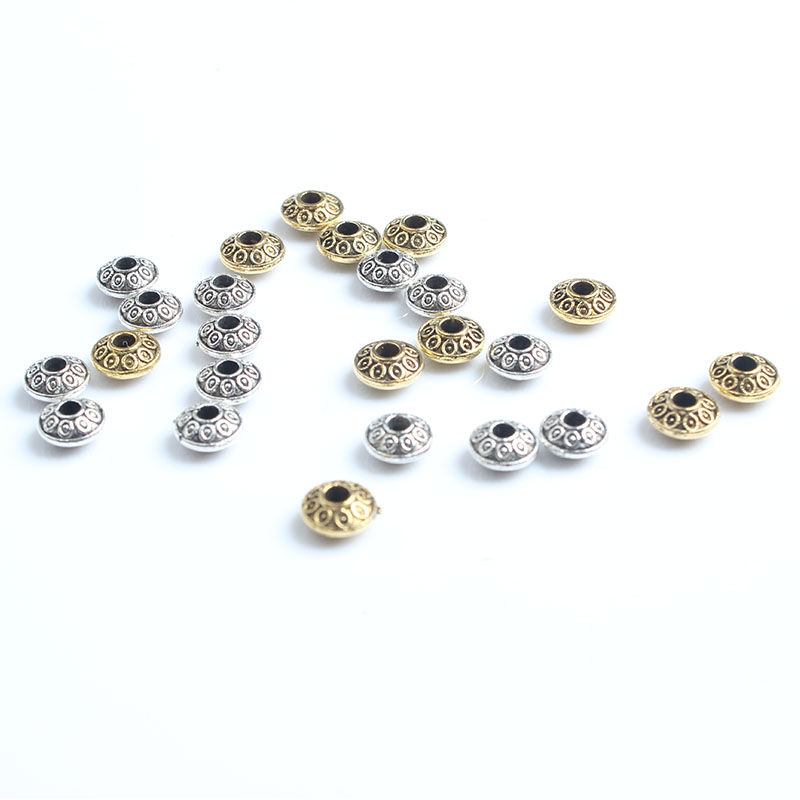 Factory sales jewelry accessories DIY zinc alloy accessories bead flying saucer spacer Bracelet spacer beads 6MM 85 a pack of sp in Jewelry Findings Components from Jewelry Accessories