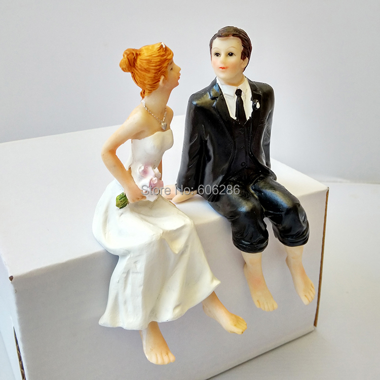 wholesale 20pcs lot funny resin couple bride and groom figurines wedding dolls cake topper. Black Bedroom Furniture Sets. Home Design Ideas