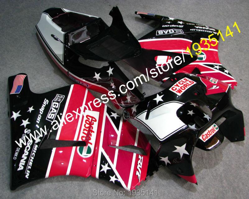 Горячие продаж,Кастрол звезды для Honda RVF400R MC35 1994-1998 RVF35 ЛРВ 400 NC35 Р 94 95 96 97 98 послепродажного мотоцикл обтекатель комплект