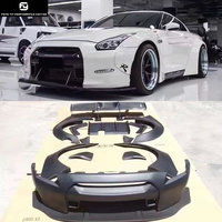 GT R R35 LB wide Car body kit Carbon fiber FRP front bumper lip rear diffuser Spoiler Wheel eyebrow for Nissan GTR R35 09 15