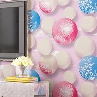 Papel De Parede 3d Non Woven Wallpaper Warm Dandelion Circle Bedroom Living Room Sofa TV Background