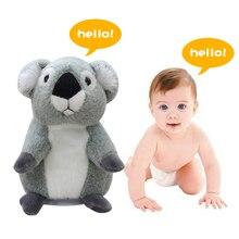 18cm Talking Koala Plush Toy Cute Speak Sound Record Koala Bear Hamster Toys for Children Educational Toy