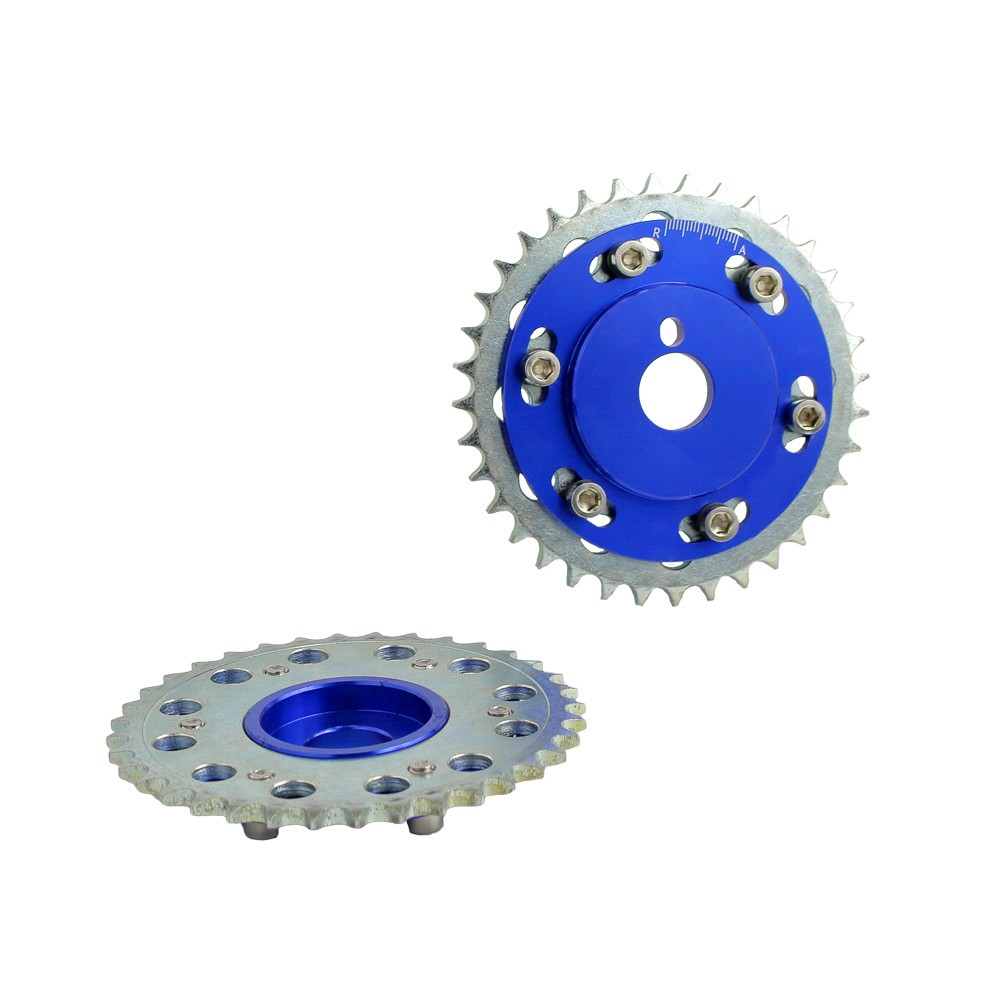 CNSPEED Free shipping SLIDE CAM GEAR PULLEY for NISSAN 200SX 240SX S13 S14 S15 SILVIA SR20 SR20DET blue TT100828-BL