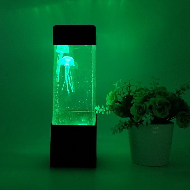LumiParty LED Desktop Light Jellyfish Tropical Fish Aquarium Tank LED Light Relaxing Bedside Mood Night Light Lamp