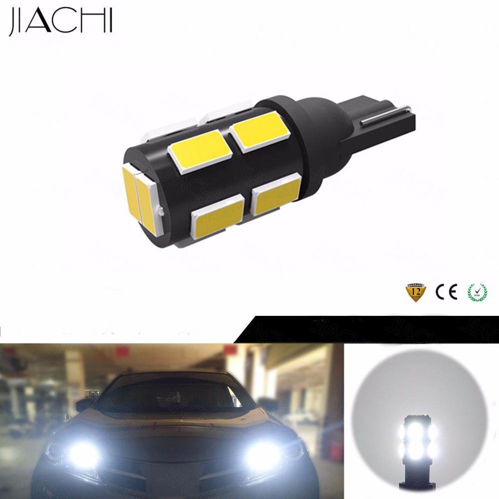 JIACHI 100 x Auto Wedge Clearance Lamp Car Styling T10 W5W 194 168 5730LED 12Chips LED