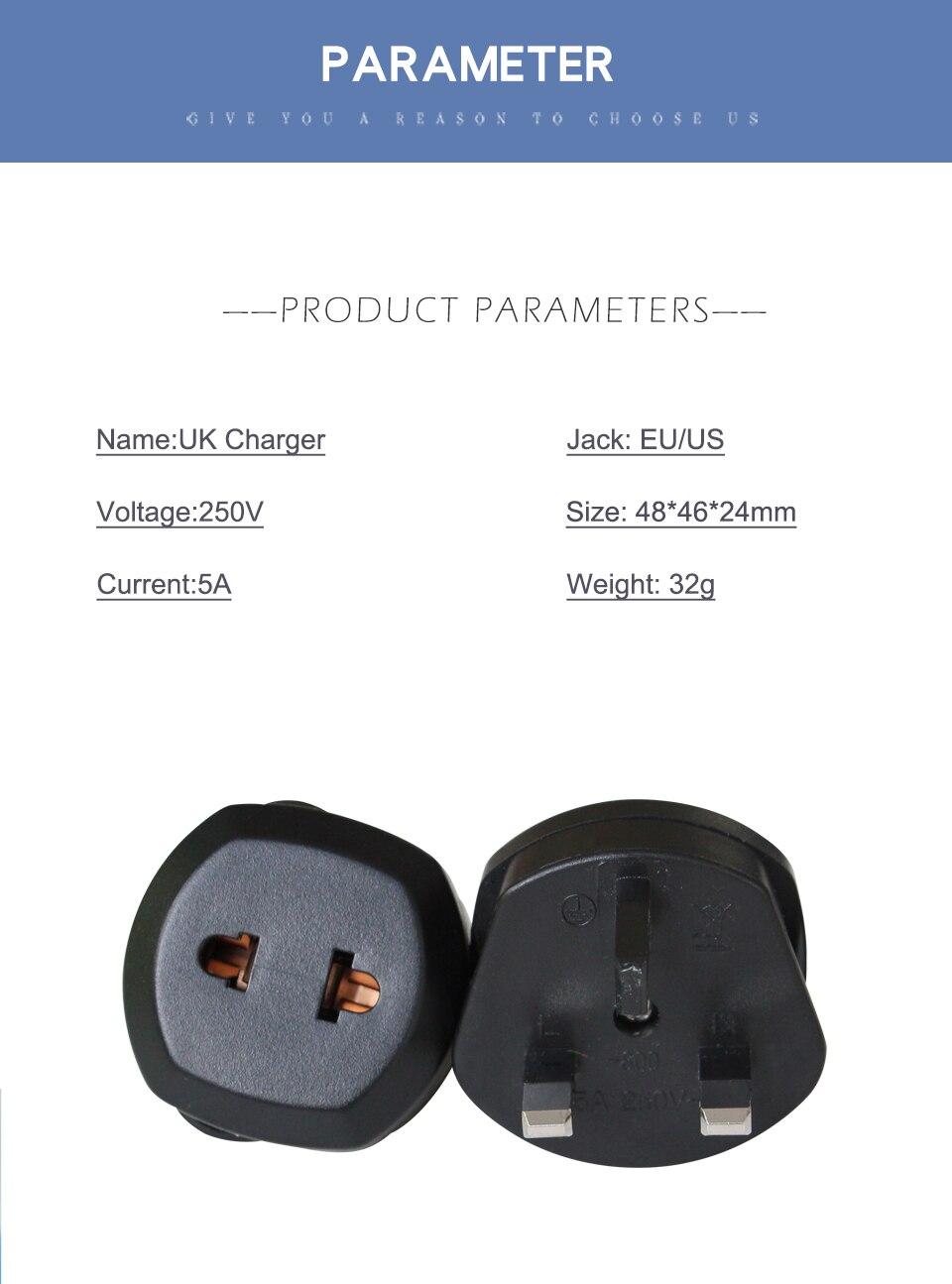 1 PC UK Adapter Travel Wall Power Plug Charger Adaptors Converter Connector uk Plug 3 Pin Socket Singapore Maldives Malaysia (7)