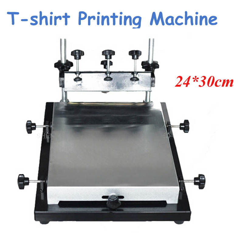 Single Color Screen Printer 24*30cm T-shirt Screen Printing Machine 24*30cm Flat Printing Press Machine automatic silicon wristband screen printing machine automatic screen printer for single color