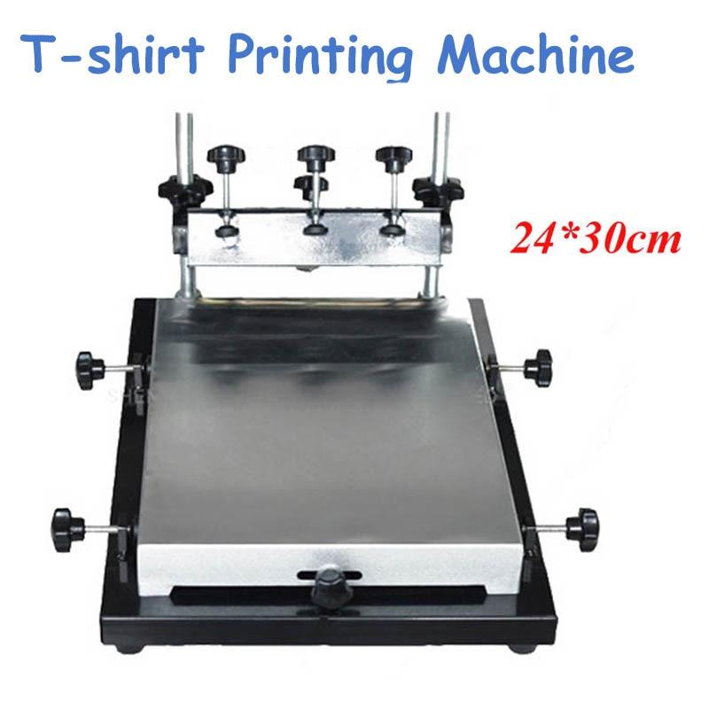 Single Color Screen Printer T-shirt Screen Printing Machine 24*30cm Flat Printing Press Machine expire date printing machine date code printer machine for printing expiration date