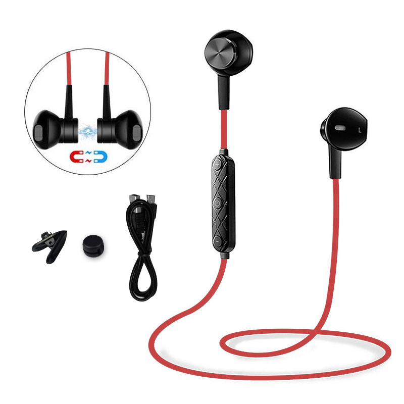 Magnet Metal Bluetooth V4.1 Earphone Stereo Wireless Earbuds IPX4 Waterproof Earphones Fashion Earphone Noise Reduction Earbuds elivebuy one drag two bluetooth earphones hd sound stereo bass wireless headset noise reduction running mp3 music earbuds