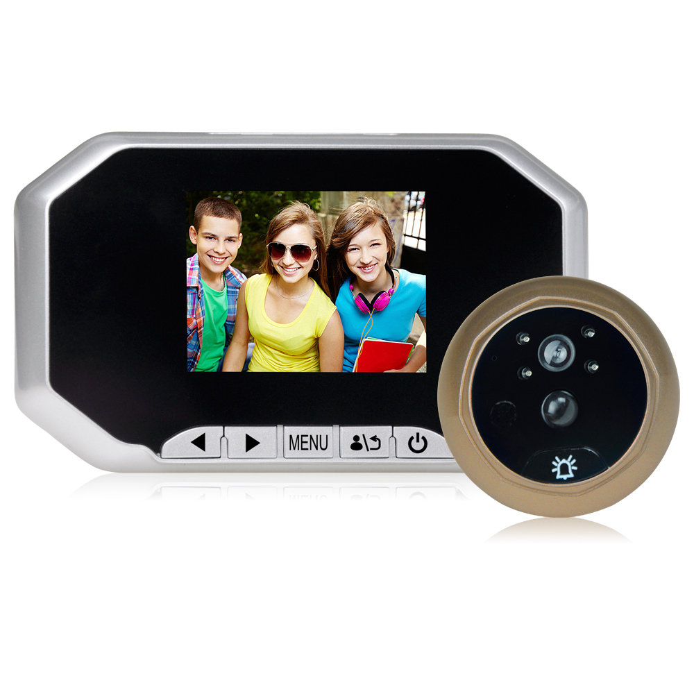 30AHD-M Direct Factory Digital Peephole Viewer Door Eye Doorbell Color IR Camera Automatic Video Recording Range Remote Control h 264 1080p door eye hd ahd peephole