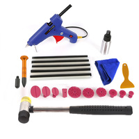 WHDZ Paintless Dent Remover Kit Rubber Hammer Hot Melt Glue Sticks Big 100w Glue Gun Glue Puller Tabs Tap Down Hail Damage Kit