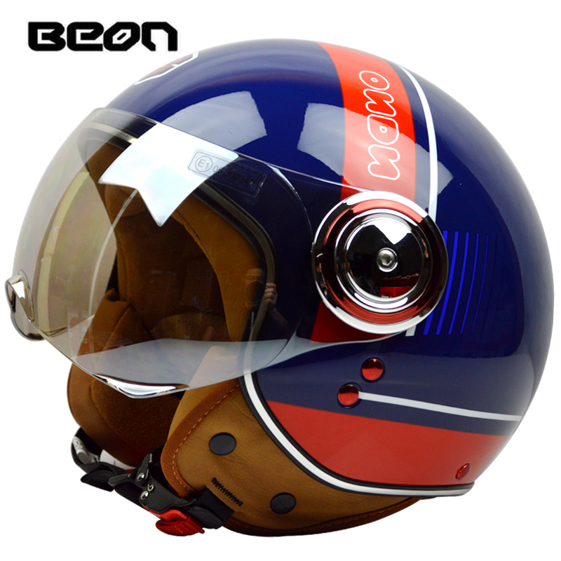 New arrival Fashion brand Beon Motorcycle helmet,retro scooter open face helmet,vintage 3/4 capacete,ECE approved moto casco gxt dot approved harley motorcycle helmet retro casco moto cascos dirt bike open face vintage downhill helmets for women and men
