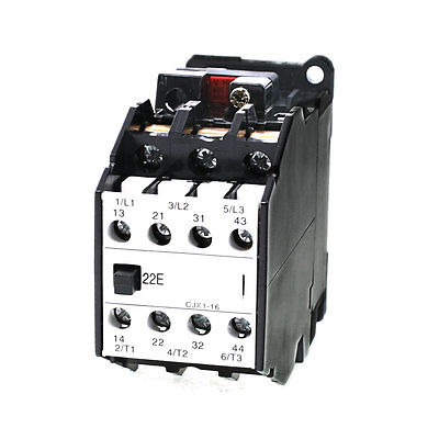660V 31.5A 3 Poles 35mm DIN Rail Mounting 2NO+2NC AC Contactor CJX1-16/22