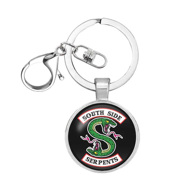 Hot Riverdale keychain Glass Cabochon móc khóa Đôi Dây Chuyền Mặt Dây Chuyền Phụ Nữ Người Đàn Ông Đồ Trang Sức The Avengers thanos món quà Giáng Sinh