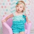 Лето детская одежда принцессы кружева ребенка комбинезон девочка одежда новорожденного комбинезон ползунки Рождество детские наборы