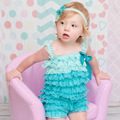 Bebê roupas de verão Moda rendas princesa do bebê macacão de bebê conjuntos de roupas de menina recém-nascidos jumpsuit romper do bebê Natal