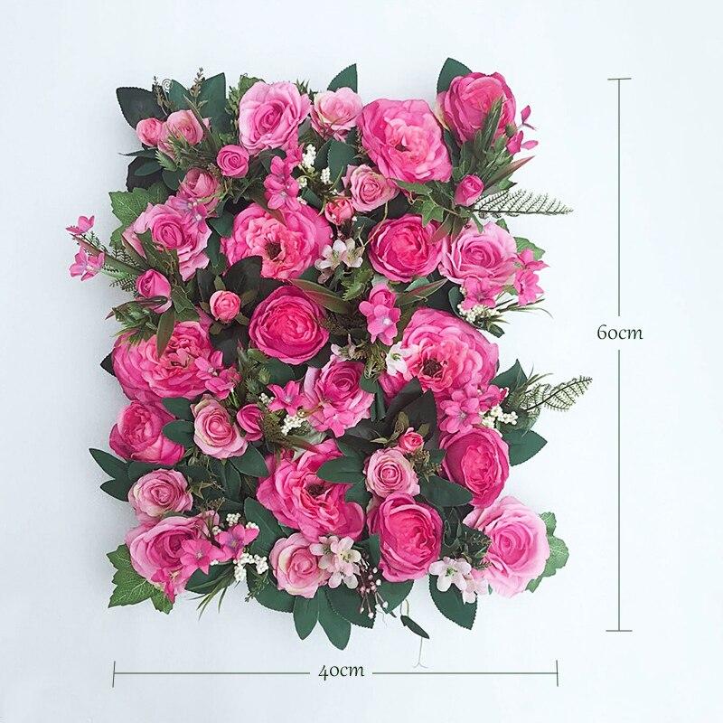 JAROWN Artificial Flower Row Simulation Rose Peony Hydrangea Background Wall Fake Flowers Wedding Feast Arrangement Props Flores (16)
